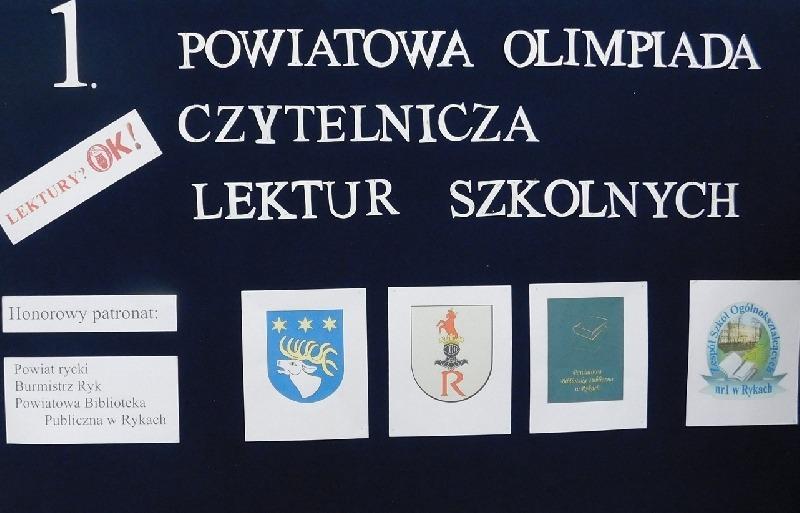 I Powiatowa Olimpiada Czytelnicza Lektur Szkolnych