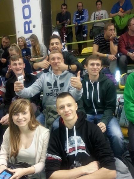 Na meczu piłki siatkowej w Radomiu