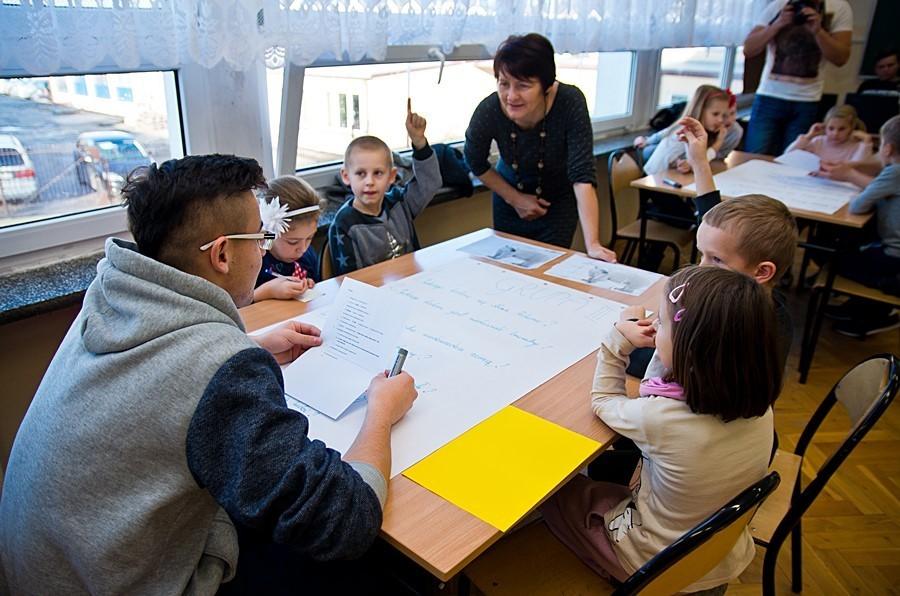 Przedszkolaki w ZSZ nr 1 w Rykach