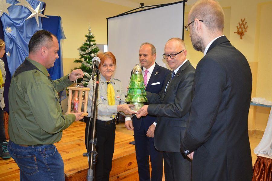 Spotkanie opłatkowe samorządu powiatu ryckiego