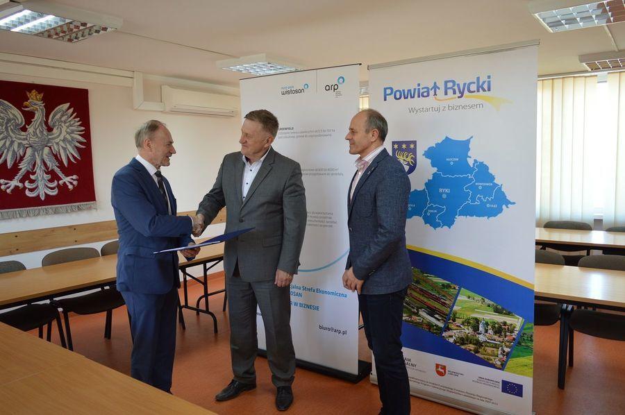 Przedsiębiorcy z terenu powiatu ryckiego w Tarnobrzeskiej Specjalnej Strefie Ekonomicznej EURO-PARK WISŁOSAN