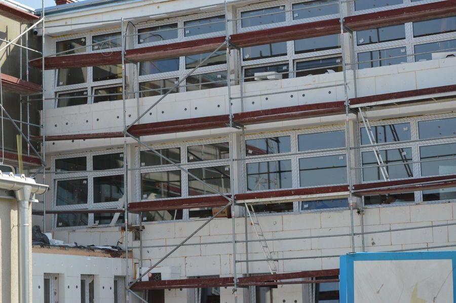 Odbiór częściowy robót budowlanych wykonanych w ramach zadania polegającego na termomodernizacji budynku przy Zespole Szkół Zawodowych nr 1 w Rykach