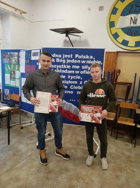 """Projekt edukacyjny """"Mistrzowie i patrioci"""" w Zespole Szkół Zawodowych nr 1 w Dęblinie"""
