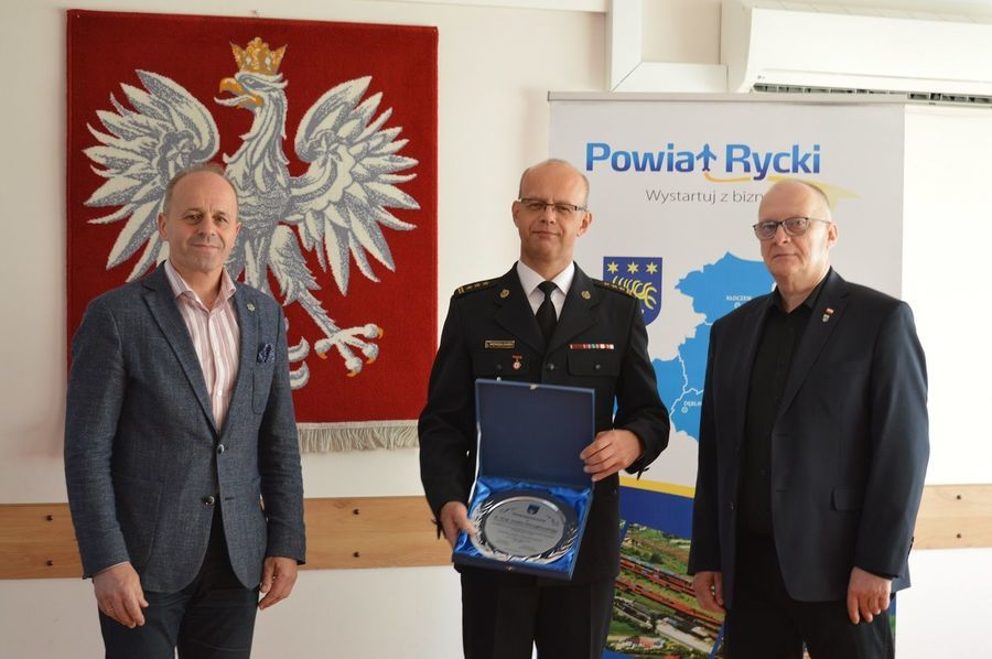 Komendant Powiatowy PSP w Rykach kończy czynną służbę zawodową