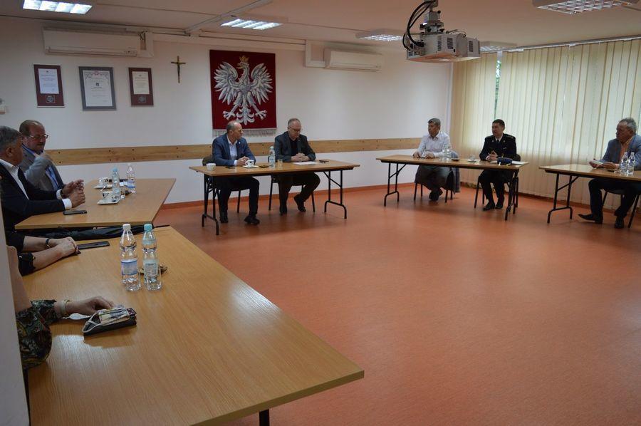 Spotkanie w sprawie  bezpieczeństwa przeciwpożarowego w regionie