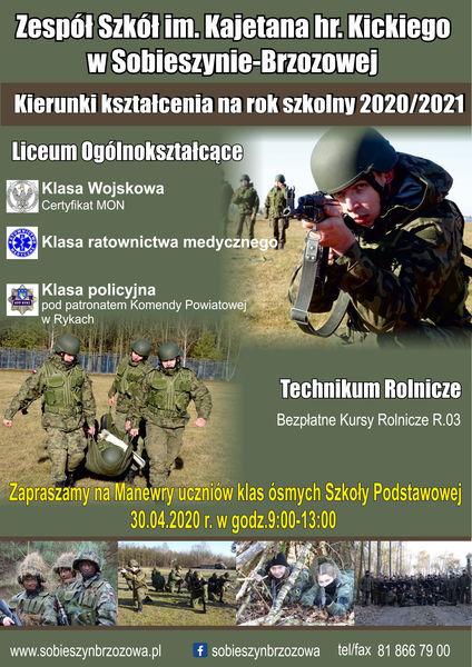 Plakat - Zespół Szkół im. kajetana hr. Kickiego