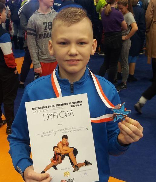 """Oskar Żukowski z """"ISKRY"""" Spiczyn brązowym medalistą Mistrzostw Polski Młodzików"""