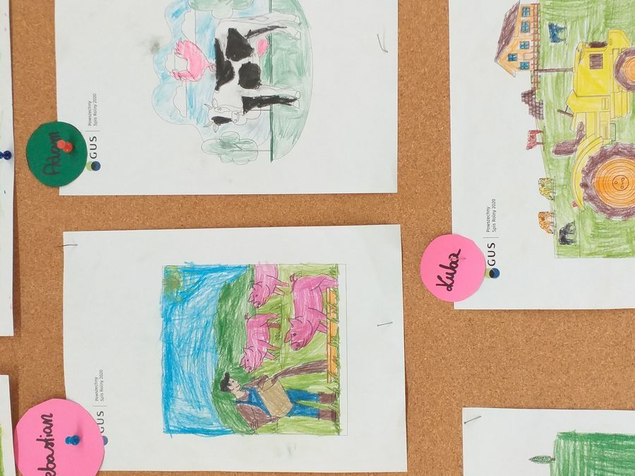 Prace dzieci promujące spis rolny 2020
