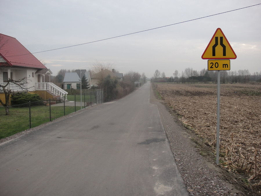 Droga po przebudowie