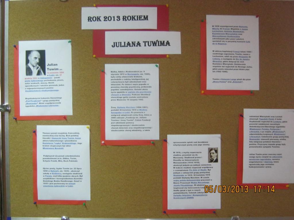 2013 Rok Juliana Tuwima