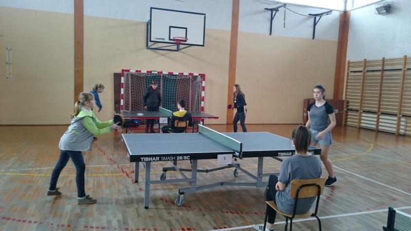 II Turniej Tenisa Stołowego.