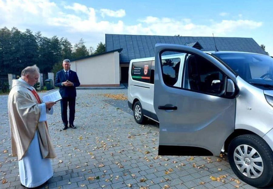 Uroczyste przekazanie samochodu dla niepełnosprawnych