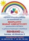 Plakat - bezpłatny masaż limfatyczny dla kobiet po mastektomii