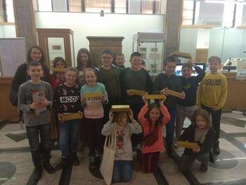 Wycieczka dzieci z Sobianowic do Oddziału Narodowego Banku Polskiego w Lublinie