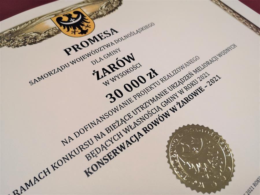 promesa na konserwację rowów
