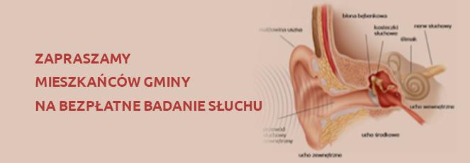 Zapraszamy mieszkańców Gminy na bezpłatne badanie słuchu