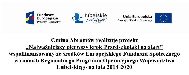 """Gmina Abramów realizuje projekt """"Najważniejszy pierwszy krok-Przedszkolaki na start"""""""