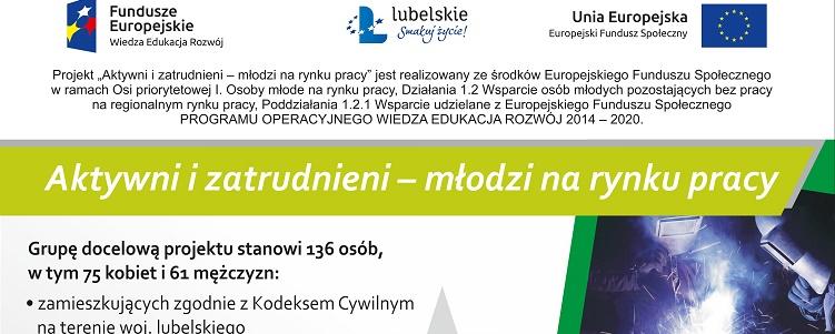 """Nabór do projektu """"Aktywni i zatrudnieni - młodzi na rynku pracy"""""""