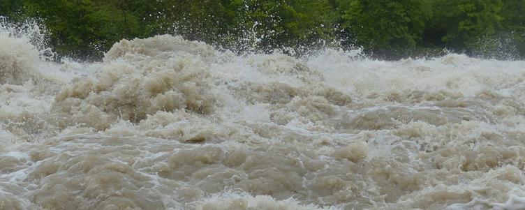 fala wody deszczowej- grafika ogólna