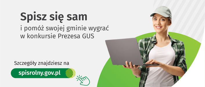 plakat  PSR 2020 - Konkurs Prezesa GUS na gminę o najwyższym odsetku spisanych gospodarstw rolnych w kanale samospisu