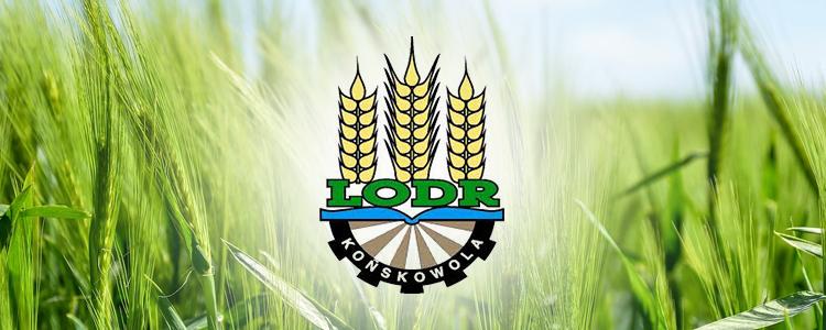 Logo LORD KOńskowola na tle zbóż