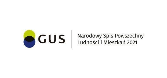 Logo GUS z napisem Narodowy Spis Powszechny Ludności i Mieszkań 2021