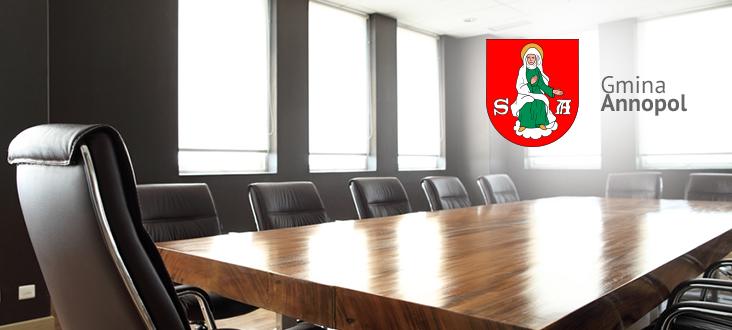 Zaproszenie na XXX sesję VII kadencji Rady Miejskiej w Annopolu