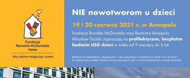 Bezpłatne badania usg dzieci 19 i 20 czerwca 2021 r. w Annopolu