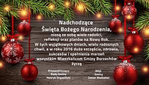 Życzenia Bożonarodzeniowe 2016