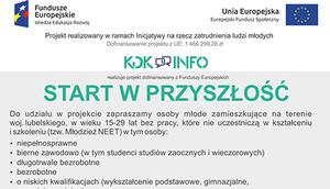 Firma KDK INFO Sp. z o.o. zaprasza do udziału w projekcie Start w przyszłość.