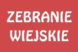 Zebranie wiejskie Sołectwa Borzechów