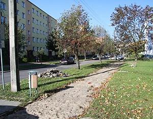 Budowa chodnika na osiedlu Wiślana wzdłuż bloków nr 1-5.