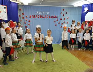 11 listopad - jak co roku jest ważnym dniem dla Miejskiego Przedszkola nr 4 im. Jana Pawła II w Dęblinie.