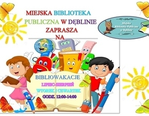 Bibliowakacje w Miejskiej bibliotece Publicznej w Dęblinie