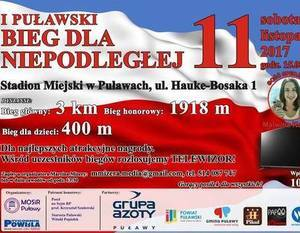 """Dęblinianie pobiegną w """"Biegu dla Niepodległej!"""" - 11.11.2017r."""
