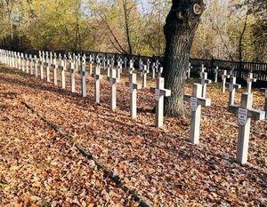 """W dniu 28 października 2019 roku na terenie cmentarza wojennego """"Balonna"""" w Dęblinie odbyło się porządkowanie miejsc pamięci"""