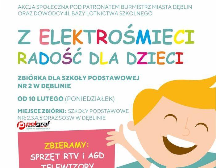 Zbiórka elektrośmieci dla Szkoły Podstawowej nr 2 w Dęblinie