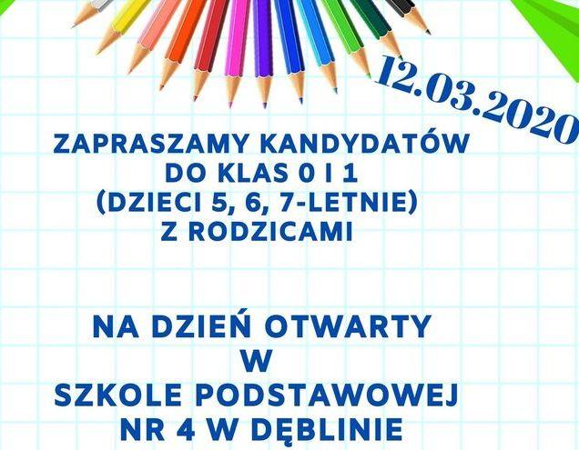 Dzień otwarty w Szkole Podstawowej Nr 4 w Dęblinie