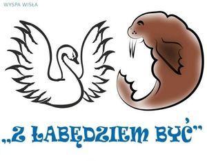 """Logo Nieformalnego Klubu Morsa """"Z łabędziem być"""""""