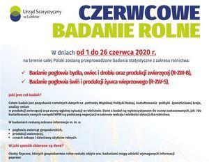 CZERWCOWE BADANIA ROLNE