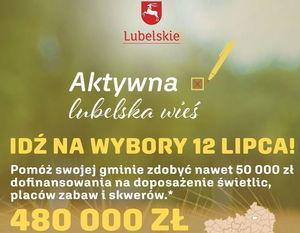 "fragment plakatu Konkursu  ""Aktywna lubelska wieś"""