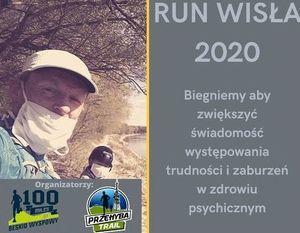 RUN WISŁA 2020 – 450 km biegiem- fragment plakatu