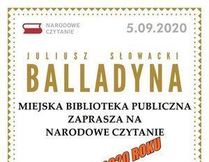 Narodowe Czytanie 2020 - Balladyna