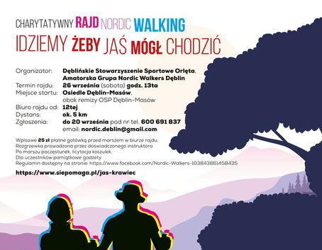 CHARYTATYWNY rajd nordic walking