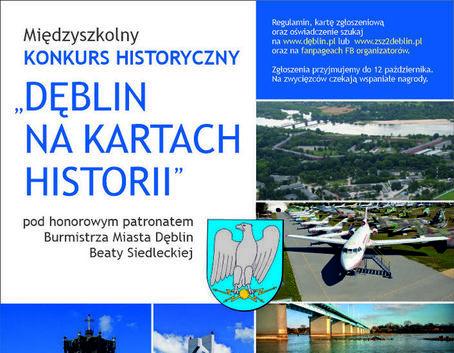 """Międzyszkolny Konkurs Historyczny """"Dęblin na kartach historii"""""""