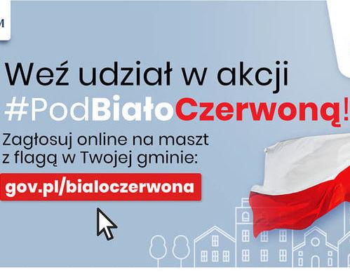 plakat pod biało-czerwoną