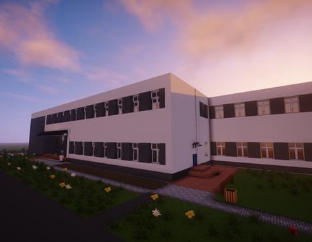 Szkoła w Minecraft - Budynek szkoły