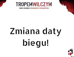 Baner z logo Biegu oraz napisem Zmiana daty biegu!