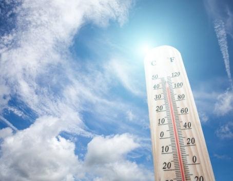 Termometr na słońcu
