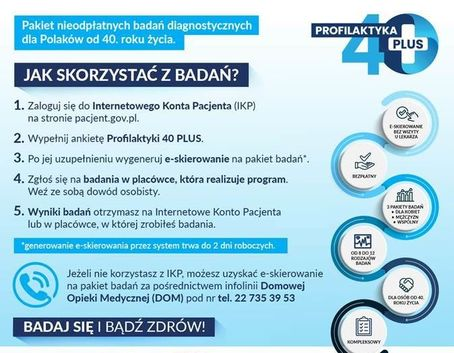Grafika pobrana z https://www.gov.pl/web/zdrowie/profilaktyka40-plus---pakiet-badan-dla-milionow-polakow